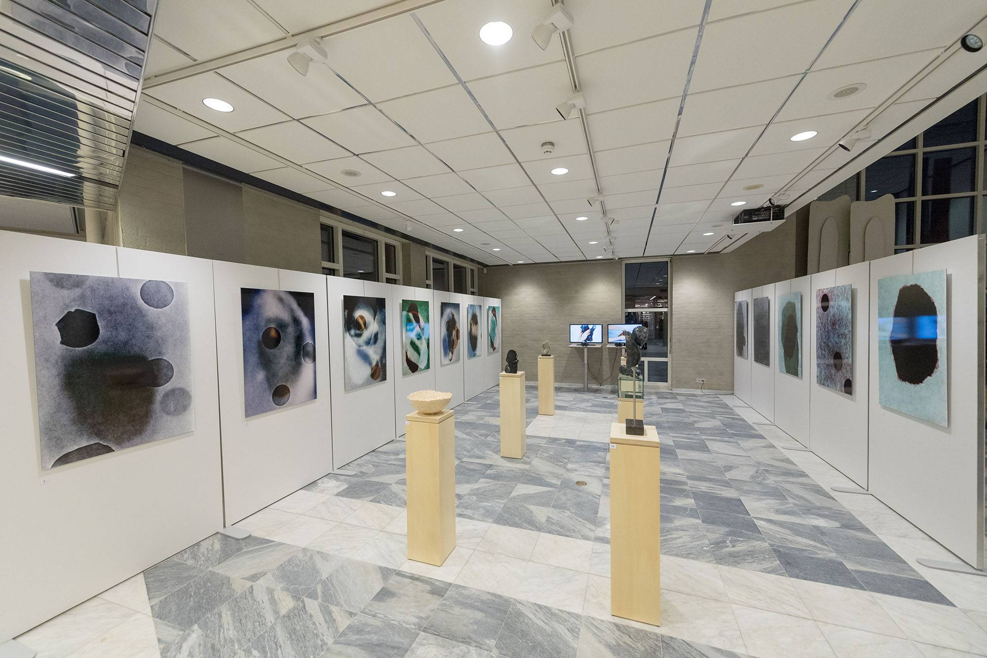 Impression Exhibition The blind spot, municipality house Goirle, March 2018.
