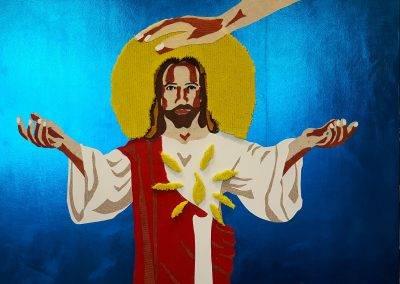 Taktila illustratie van Jezus door Jofke