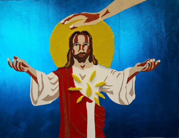Taktila illustration of Jesus by Jofke