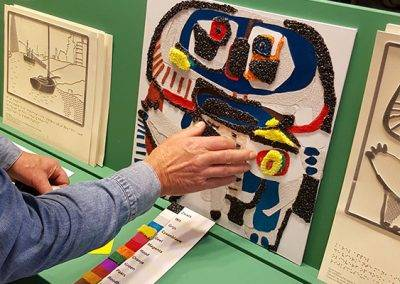Taktila® replica van het schilderij De vierkante man van Karel Appel in het van Abbe Museum, door Jofke