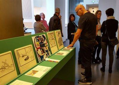 Taktila® replica of the painting The square man of Karel Appel in the van Abbe Museum, by Jofke