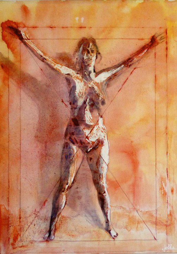 Oil painting, Vitruvius woman by Jofke