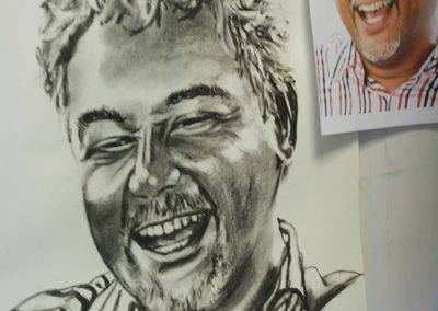 Commissioned portrait in charcoal, by Jofke