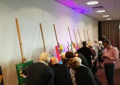 100+ viewers watch the Taktila feeling exhibition, by Jofke