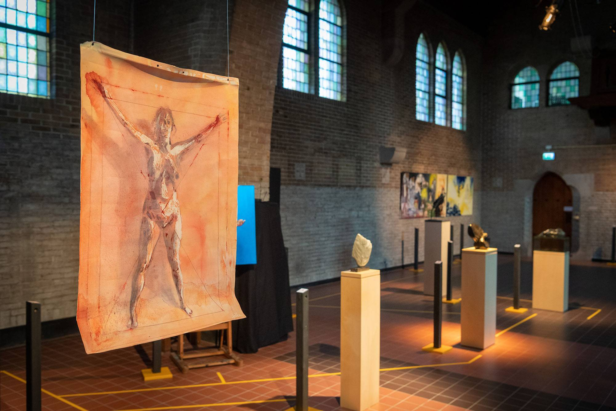 Impression exhibition First see then believe in the Mariëngaarde Chapel 2019 by Jofke.