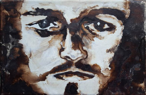 Portrait of Jesus, painted with bister by Jofke