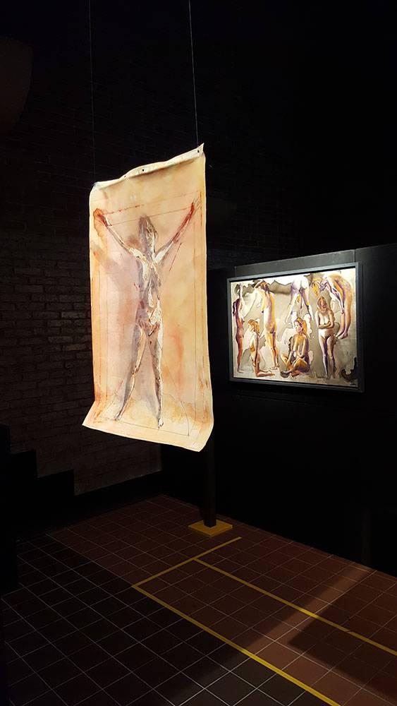 Werk 17. Vitruviusvrouw – Olieverf op canvas in de ruimte (2004)