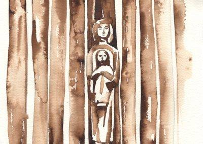 Illustration Marian statue Chapel Our dear Lady of the good dive, Gilzerbaan by Jofke