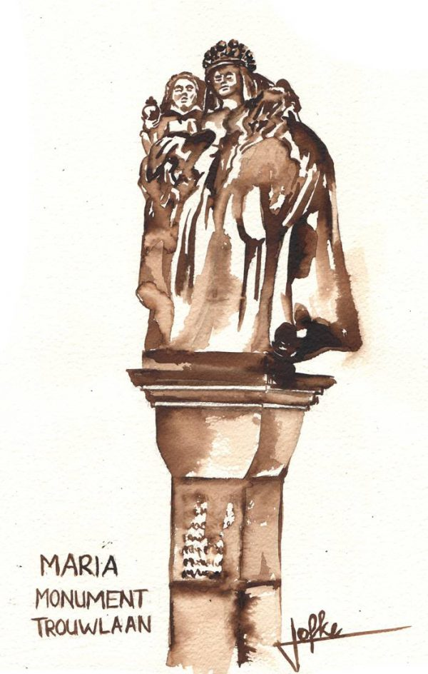 Illustration Mariamonument Trouwlaan by Jofke