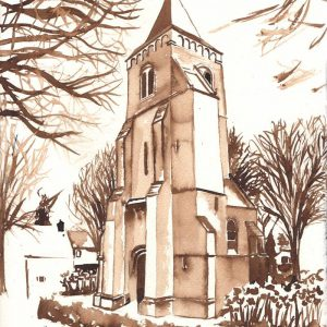 Illustration Mary Chapel in the old tower of Enschot, Torenpad by Jofke