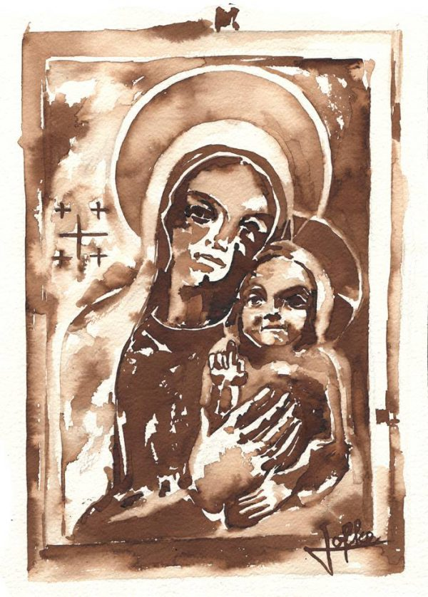 Illustration statue of Mary by Jofke