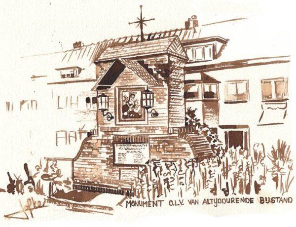 Illustration Monument OLV of Everlasting Assistance, by Jofke