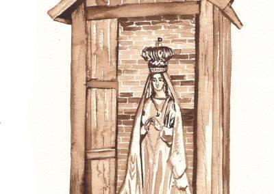 Illustratie Mariakapelletje Fatima Kruisvaarderstraat door Jofke