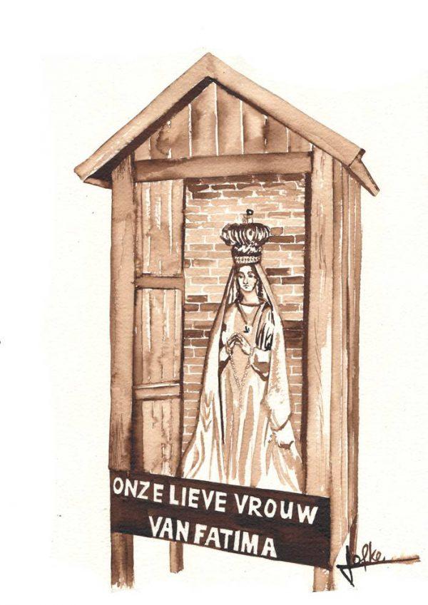 Illustration Marian Chapel Fatima Crusader Street by Jofke