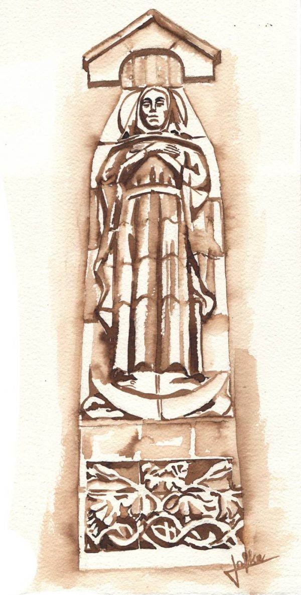 Illustration statue of Our dear Lady of the holy heart, Mariengaarde by Jofke