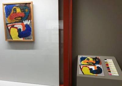 Taktila reproductie van Kind van Karel Appel in het Van Abbemuseum
