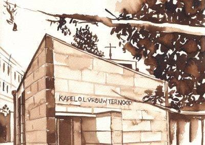 Illustratie Kapel OLV ter nood, Kapelhof door Jofke