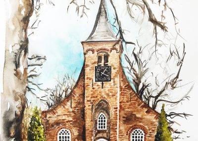 Aquarel Hasseltse kapel