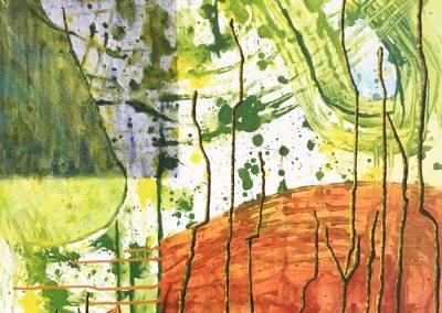 Intuitive, acrylic on canvas 100 x 160 cm