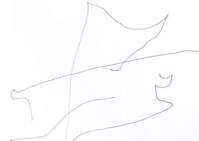 Voelen 2, tekening op A3 papier