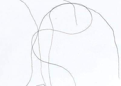 Feeling, pen drawing on A3 paper