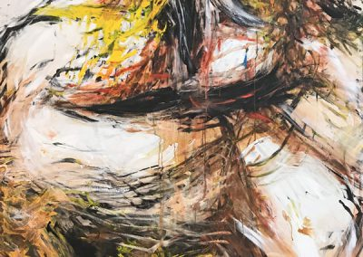 Primal force, acrylic on canvas 120 x 160 cm