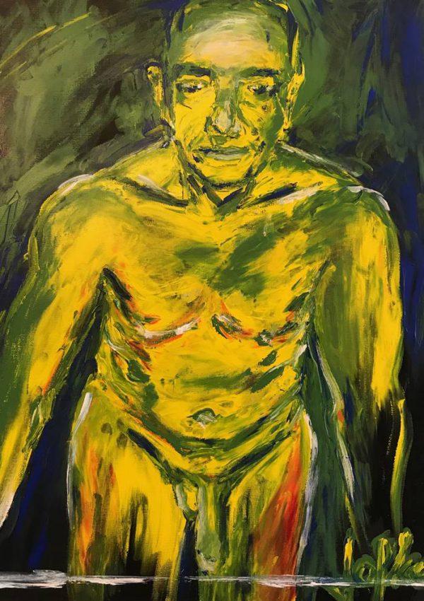 Model, acrylic paint on canvas 50 x 70 cm