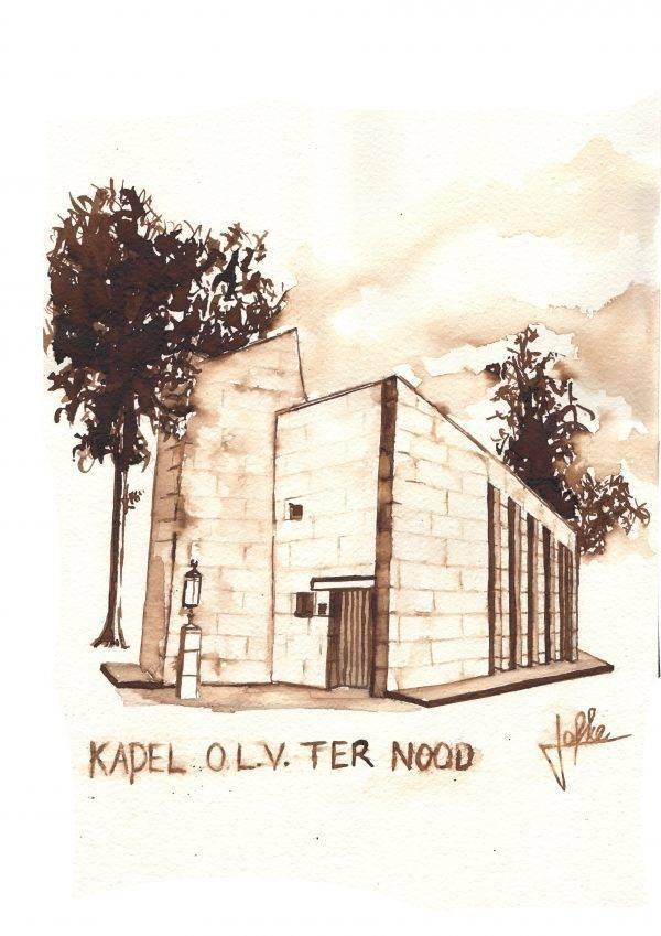 Chapel our dear woman in distress Aquarel on paper by Jofke®