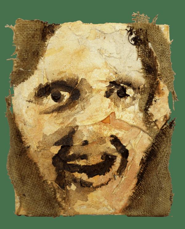 Portrait, 20 x 30 cm, mixed media